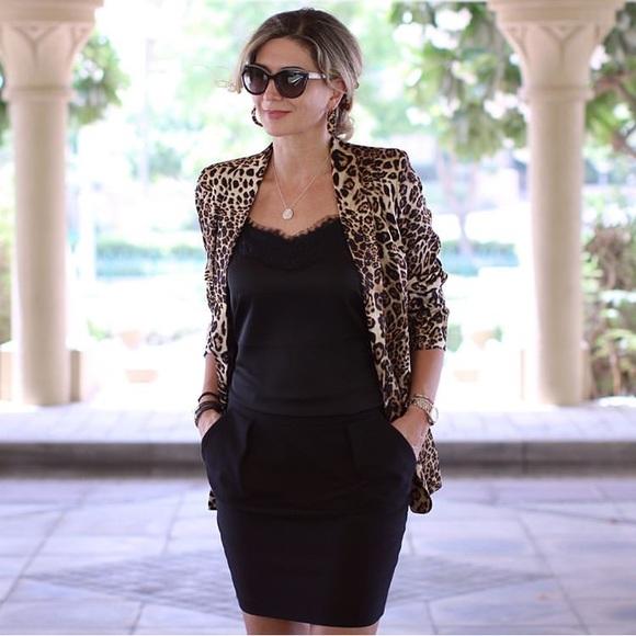 6a14b858 Zara Jackets & Coats | Nwt Leopard Animal Print Blazer Satin Jacket ...